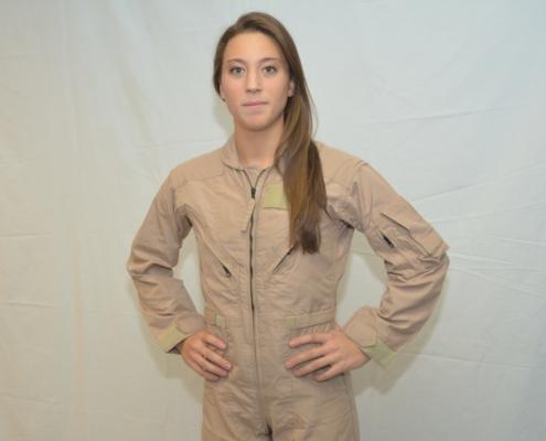 Difference between men and women Nomex flight suit